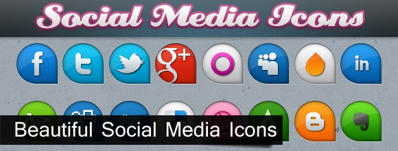 Beautifull Social Media Icons 8