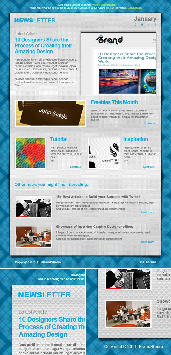 Collection Of Free and Premium Newsletter Template 3