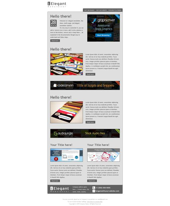Collection Of Free and Premium Newsletter Template 5