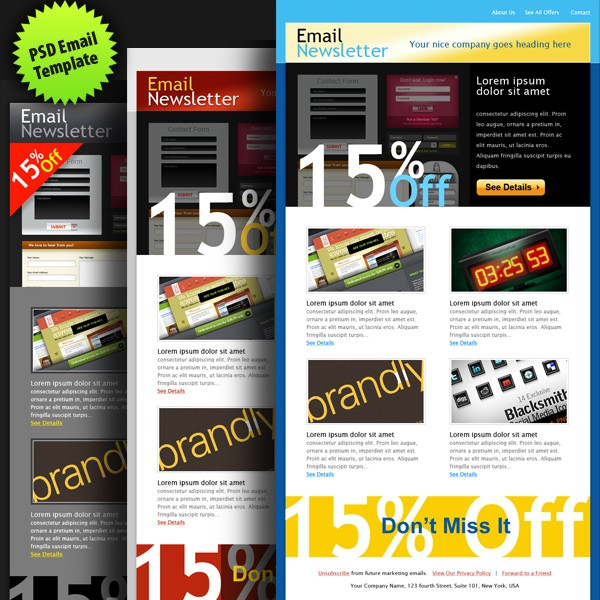 Collection Of Free and Premium Newsletter Template 8