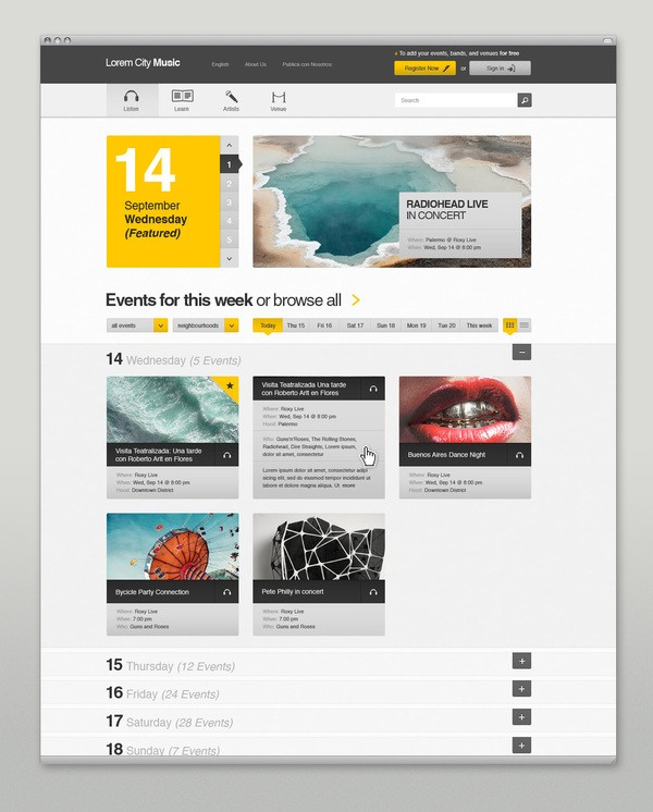 Collection Of Creative Music Web Design Inspiration 2