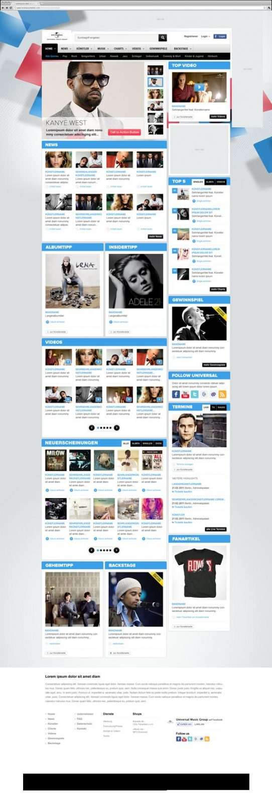 Collection Of Creative Music Web Design Inspiration 3