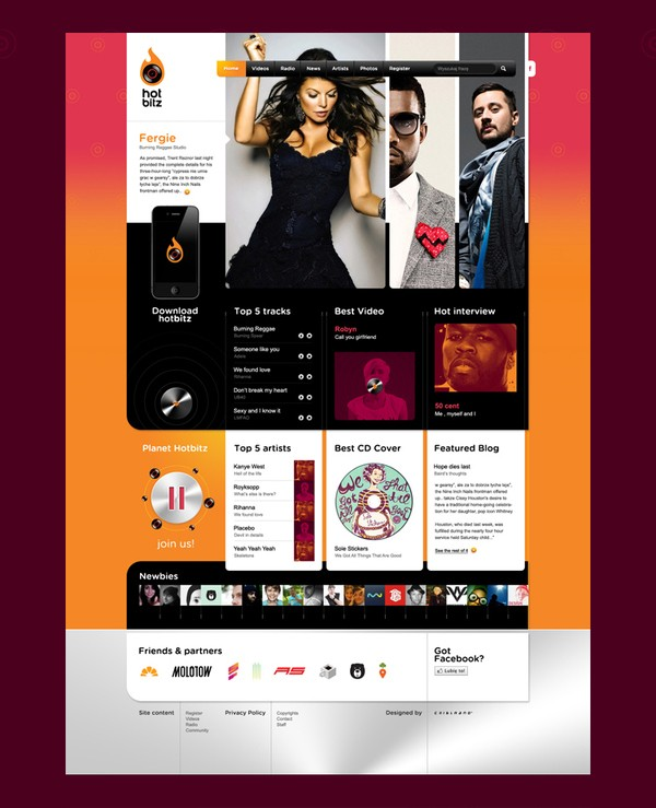 Collection Of Creative Music Web Design Inspiration 4