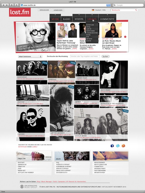 Collection Of Creative Music Web Design Inspiration 5