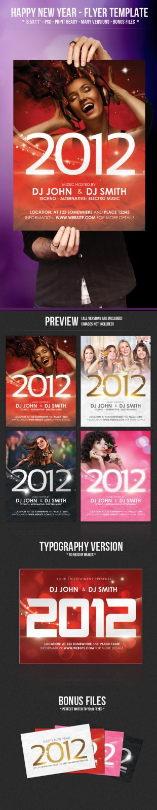 Free PSD Party Flyers Templates 4
