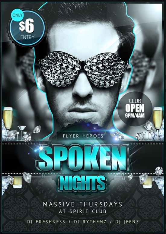Free Psd Party Flyers Templates