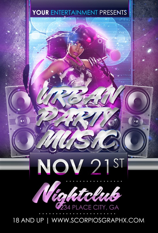 Free PSD Party Flyers Templates 7
