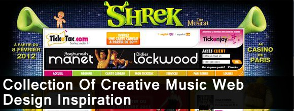 Collection Of Creative Music Web Design Inspiration 1