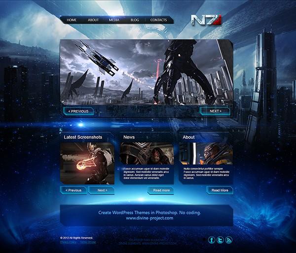 Mass Effect 3 Free PSD Template 2
