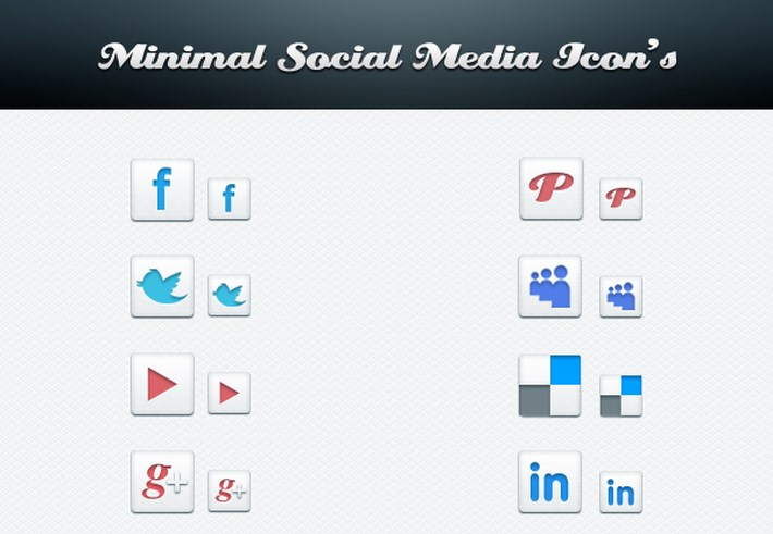 minimal social icon