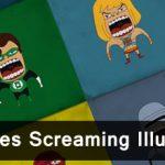 20 Superheroes Screaming Illustration 46