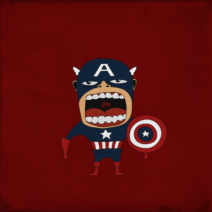 20 Superheroes Screaming Illustration 37