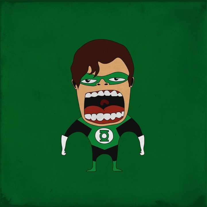 20 Superheroes Screaming Illustration 38