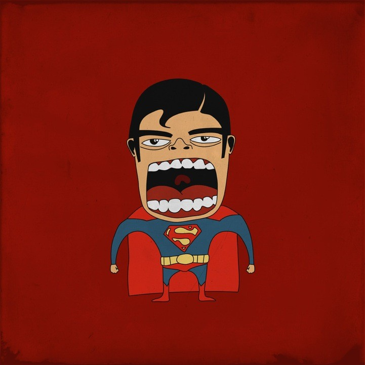 20 Superheroes Screaming Illustration 39