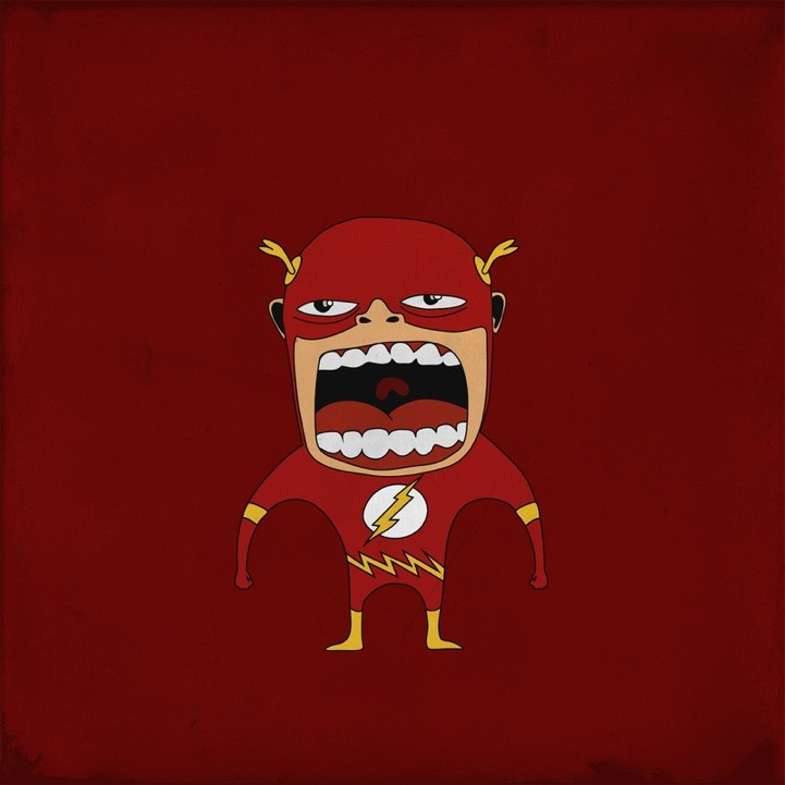 20 Superheroes Screaming Illustration 41