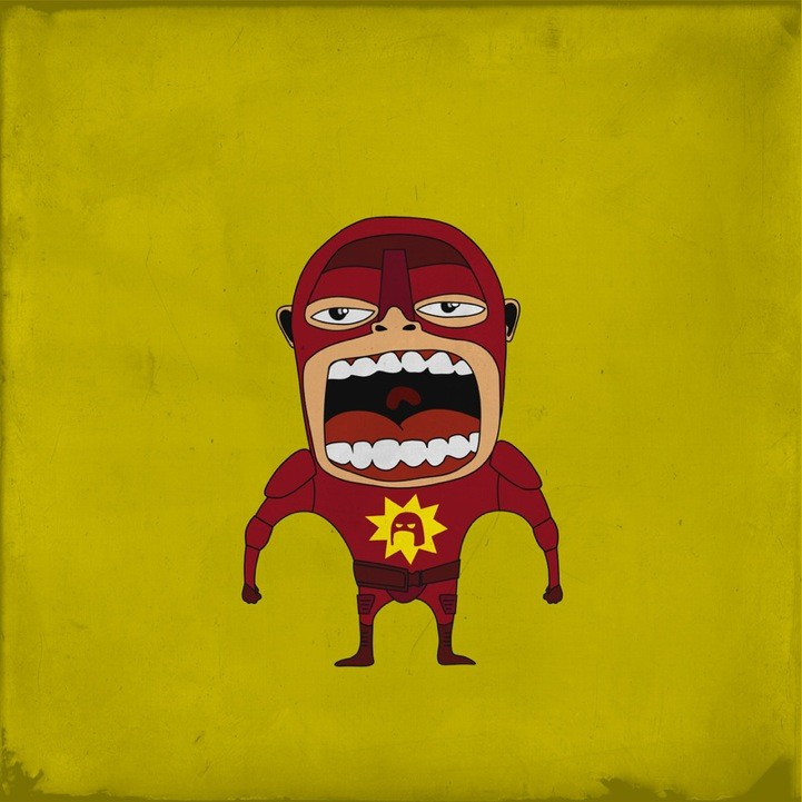 20 Superheroes Screaming Illustration 42