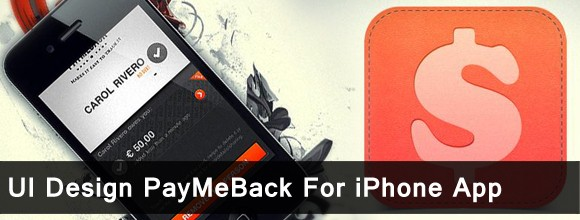 UI Design PayMeBack For iPhone App 1