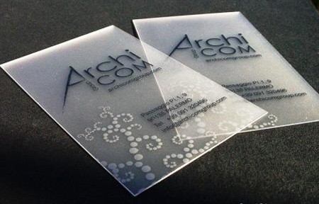 25 Clear & Attractive Transparent Business Cards 14
