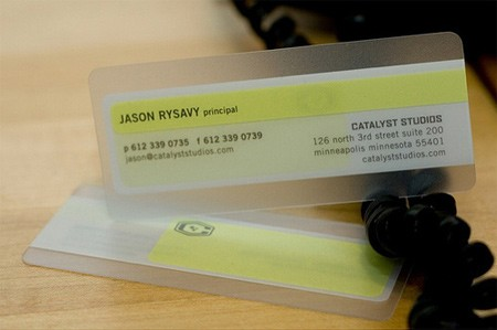 25 Clear & Attractive Transparent Business Cards 18