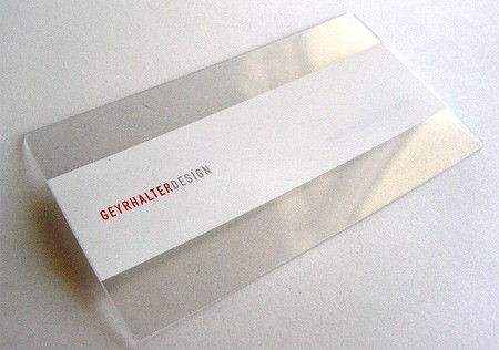 25 Clear & Attractive Transparent Business Cards 19