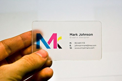 25 Clear & Attractive Transparent Business Cards 20
