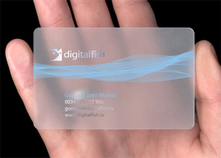 25 Clear & Attractive Transparent Business Cards 2