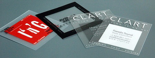 25 Clear & Attractive Transparent Business Cards 23