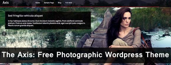 The Axis: Free Photographic Wordpress Theme  2