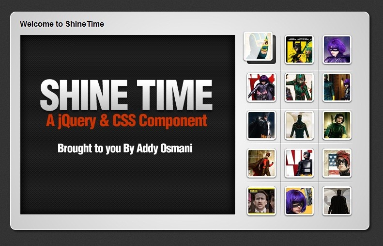 New jQuery & CSS3 Gallery With Animated Shine Effects 37