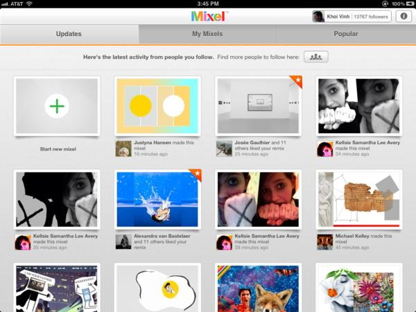 The world's first social collage app for Ipad: Mixel 38