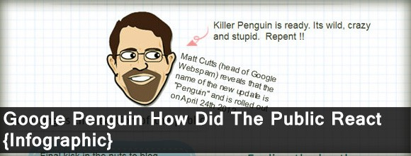 Google Penguin Update How did the public react: Infographic 1