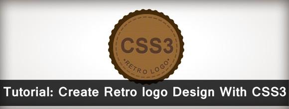 Tutorial: Create Retro logo Design With CSS3 Logo 1