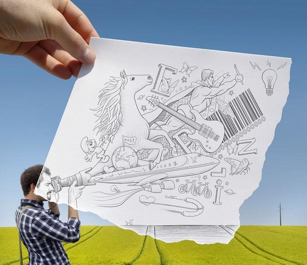 Pencil Vs Camera – Creative Artwork by Ben Heine 38