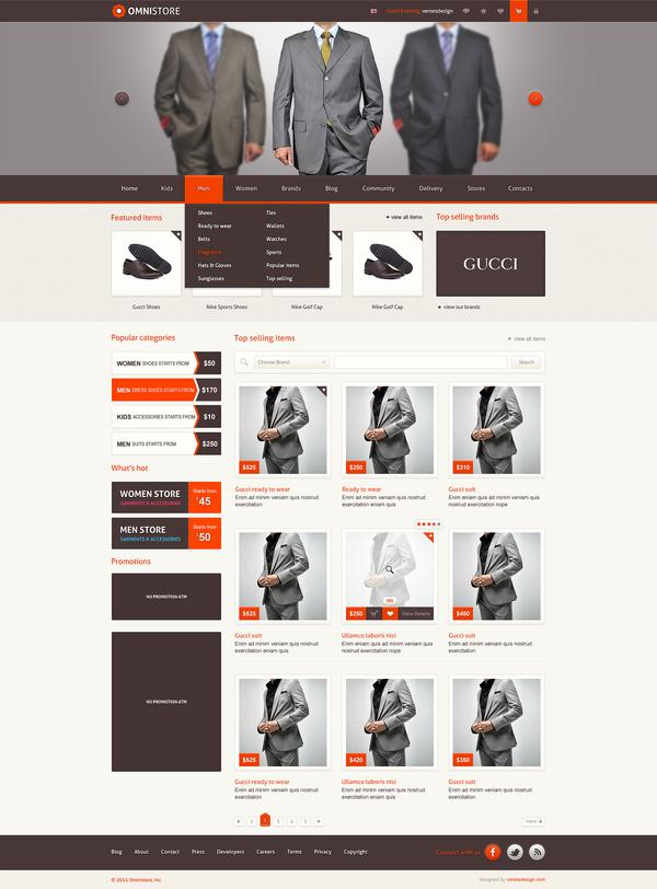 25 creative ecommerce web design inspiration downgraf for Website design for online shopping