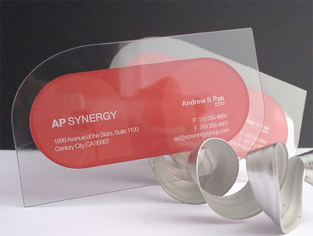 20+ Examples of Stunning and Transparent Business Card Design 12
