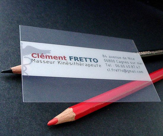 20+ Examples of Stunning and Transparent Business Card Design 17