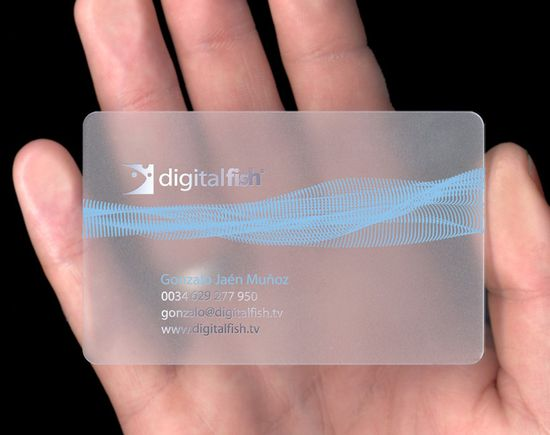 20+ Examples of Stunning and Transparent Business Card Design 9