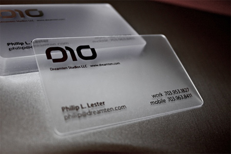 20+ Examples of Stunning and Transparent Business Card Design 1