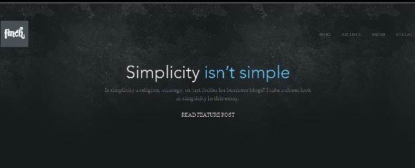 25 Amazing Examples Of Minimalism In Web Design 11
