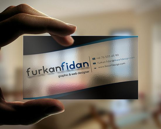 20+ Examples of Stunning and Transparent Business Card Design 18
