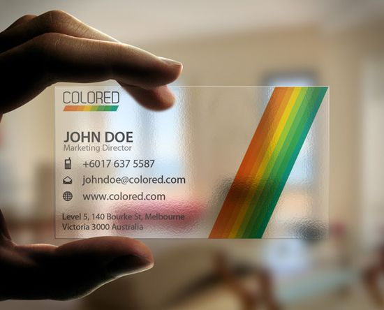 20+ Examples of Stunning and Transparent Business Card Design 8