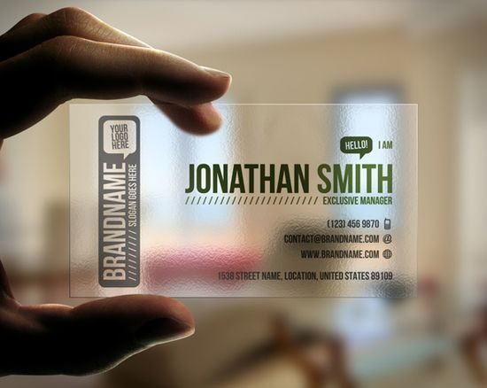 20+ Examples of Stunning and Transparent Business Card Design 7
