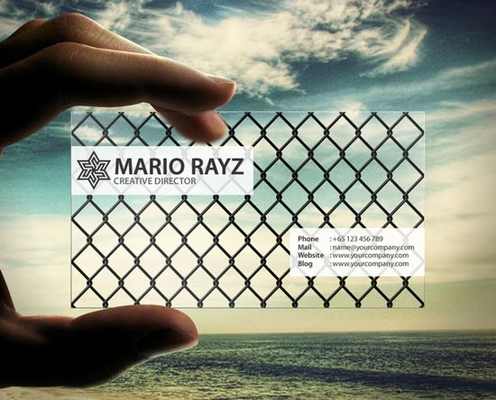 20+ Examples of Stunning and Transparent Business Card Design 3