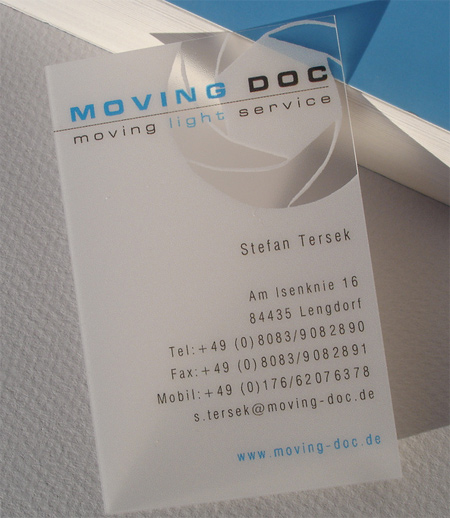 20+ Examples of Stunning and Transparent Business Card Design 10