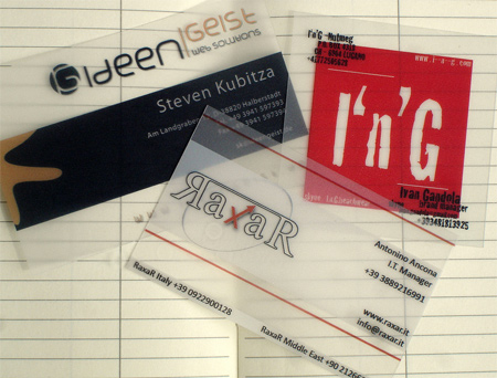 20+ Examples of Stunning and Transparent Business Card Design 11
