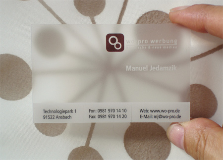 20+ Examples of Stunning and Transparent Business Card Design 20