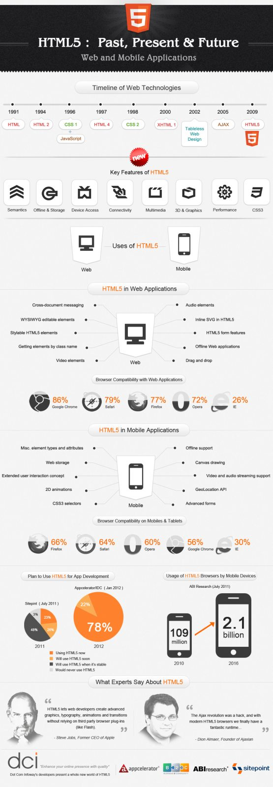 HTML5 Past Present and Future: Infographic 2