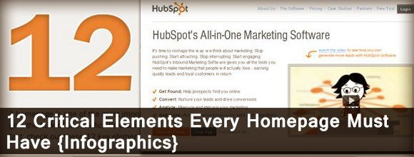 12 Critical Elements Every Homepage Must Have:Infographics 1