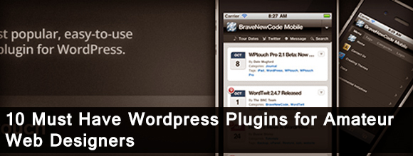 10 Must Have Wordpress Plugins for Amateur Web Designers 1