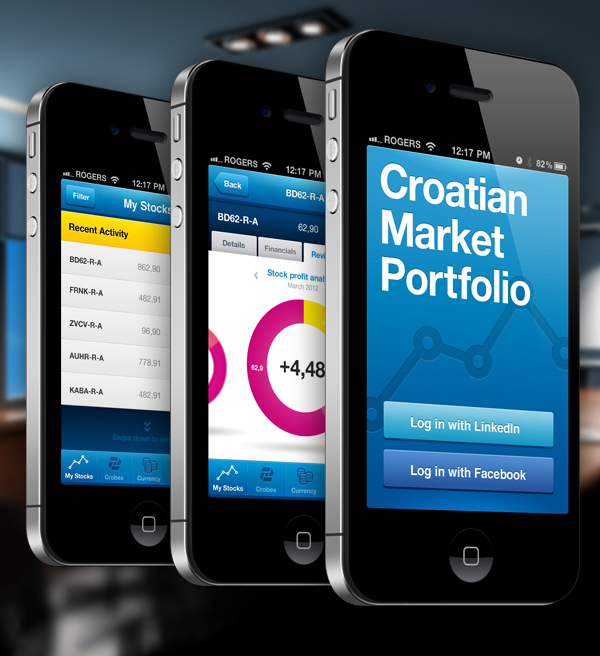 Croatian Market Portfolio iPhone App 2